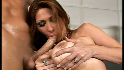 Tiffany Mynx Sucking Lucky Guys Cock - 2