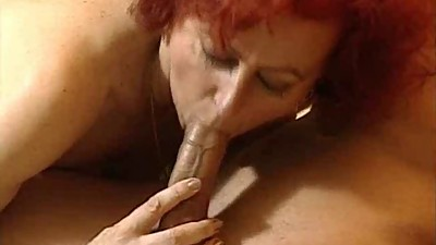 sexy mature redhead fucks with young..