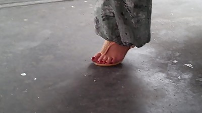Turkish woman with hot long toenails..