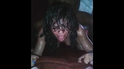 Latina goes crazy getting anal fucked