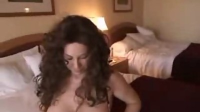 Guy visits busty milf at hotel