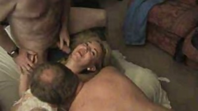 Sexy british milf enjoying a gangbang..